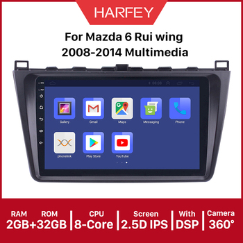 Harfey 2DIN 9inch Android 10.0 API 29 Car Radio For Mazda 6 Rui wing 2008-2014 Multimedia Player GPS Navi Head Unit stereo image