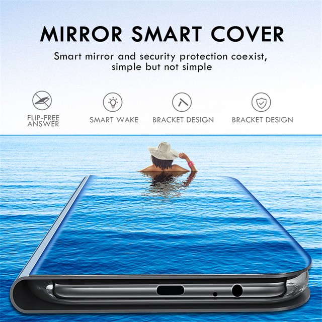 Mirror Flip stand Case For huawei p30 pro p20 lite p 30 View cover on honor 20 10 light hono honar 8s 8c 8x 8a 8 x s funda coque