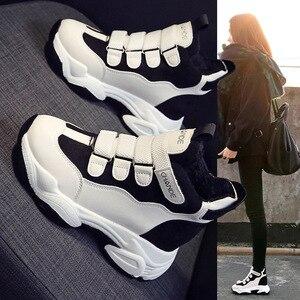 Image 5 - Swyivy Mùa Đông Dày Ấm Sneakers Nữ Nền Tảng Căn Hộ Sang Trọng Ngắn Lông Thường Tăng Chun Giày Móc Thắt Lưng Khóa Đế Bằng