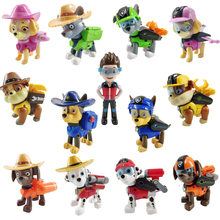 Paw patrol toys set everest paw anime action figure character rocky and ryder model Puppy kids childrens