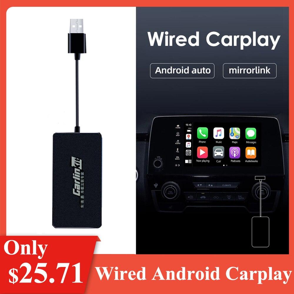 Черный Проводной адаптер Carplay Автомобильный ключ для телевизора для iOS Android экран зеркальная ссылка Автомобильный стереоплеер ключ GPS Carplay д...