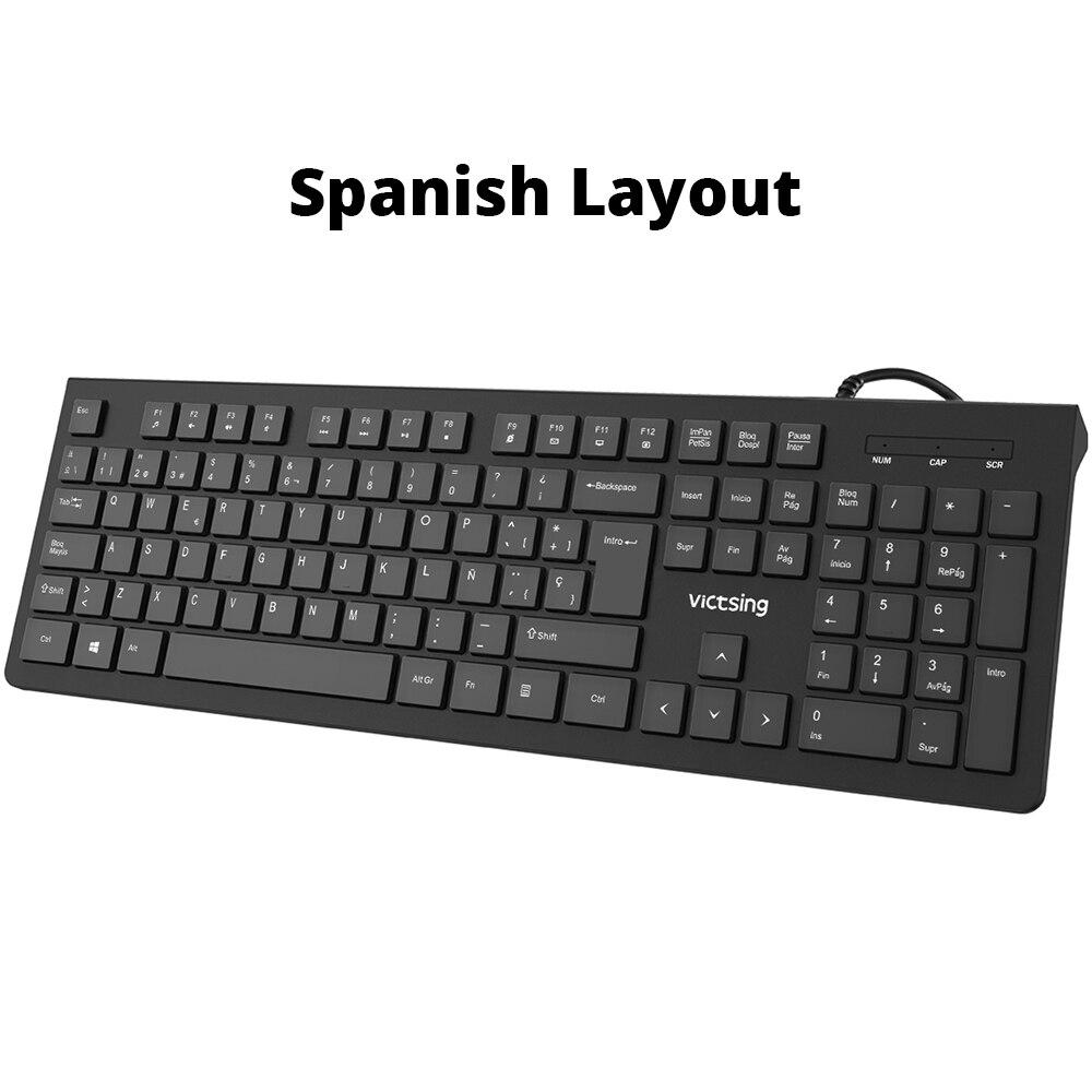 PC206 Wired Keyboard Portable Slim Membrane Chiclet Keyboard 104 Keycaps For Tablet Desktop Laptop PC Computer Keyboard (9)