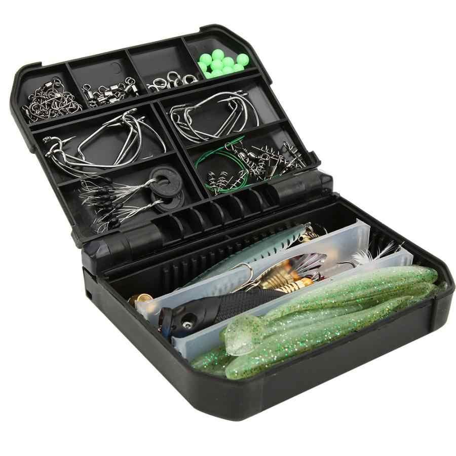 80 قطعة الصيد السحر الطعوم مجموعة ABS صندوق معالجة الصيد مع السنانير الأسماك الطعوم اكسسوارات كيت المياه المالحة الصيد اكسسوارات