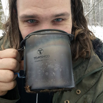 LIXADA Camping Titanium Water Mug Cookware Camping Outdoor Survival Coffee Pot Hiking Picnic Backpacking Camping Cookware Camp 5