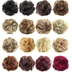 Jeedou 1 Набор эластичных волос шиньон синтетический бублик для волос пучок Pad кудрявая канатная Резиновая лента для наращивания волос