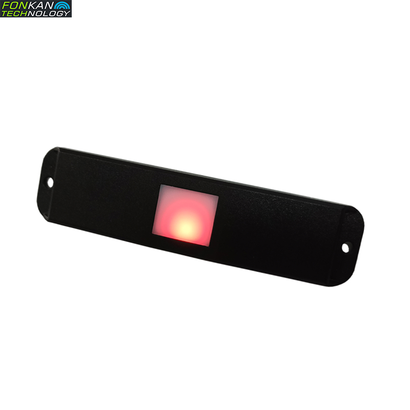 FONKAN UHF RFID Temperature Acousto-optic Tag  LED Lights And Sound Prompts Read TEMP For Cold-chain Logistics  142*32mm