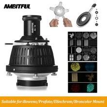 AMBITFUL – cylindre de lumière à faisceau façonné avec Gel de couleur, condenseur optique, effets spéciaux dart