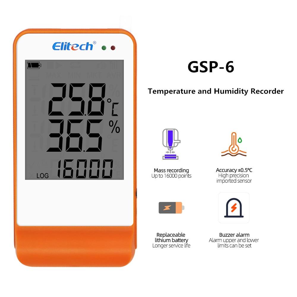 Мини регистратор данных RC-4/4HC/5/5 +/GSP-6 цифровой USB Температура влажности внутренний Сенсор высокой точности Регистраторы 30% off