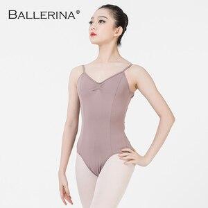 Image 2 - Balletto Body Backless Delle Donne Della Ragazza di Balletto Per Adulti Ginnastica Body Body Abiti Da Ballo Ballerina 5549