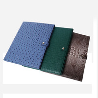 2020 Genuine Leather Women Bags Note Pad Document Bag Embrossed Python Pattern A4 File Holder Business Padfolio For Ipad Holder