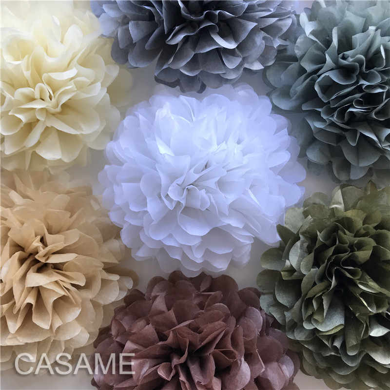 Papel flor bola chá de fraldas festa de aniversário decoração de papel pom pompons de papel tecido artesanal pompons casamento decorativo