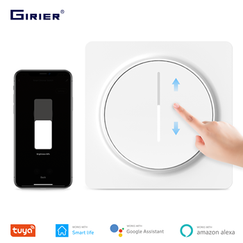 Tuya Smart Wifi Dimmer Switch, Touch Dimming Panel Light Switch EU 100-240V, Compatible with Alexa Google Home, No Hub Required compatible 4pp320 0653 k01 touch panel