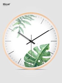 Nordic Creative Wall Clock Modern Design Office Silent Simple Wall Clock Living Room Wooden Relojes De Cocina Home Decor AA50WC