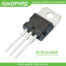 10 pces BTB16-600B BTB16-600 btb16 triacs 16 amp 600 volt para-220 original novo
