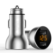 18W metal USB Car Charger For iPhone Xiaomi Dual Port Chargeur 3.6A Fast Charging Mobile Phone