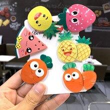 5 PCS/SET New Childrens Fruit Hairpin Korean Version Cute Color Radish Side Clip Girl Baby Duck Headwear Woman