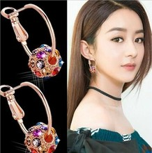 Explosion Models Korean Version Of The Color Crystal Ball Ear Studs Lucky Ball Transfer Beads Ear Jewelry Wholesale Bestsellers aidi yin the crystal ball