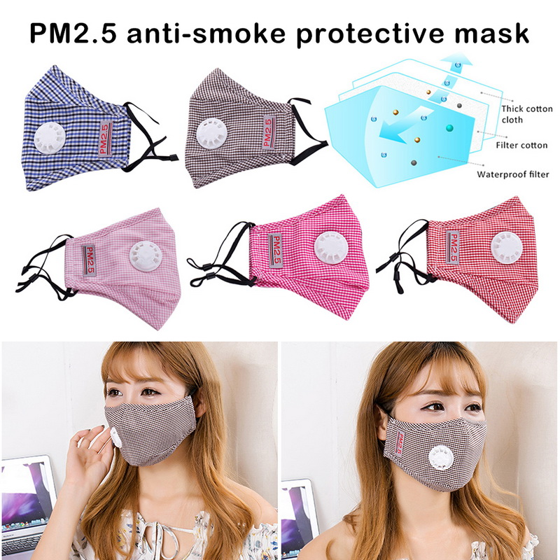 New Anti Pollution PM2.5 Mouth Mask Dust Respirator Washable Reusable Masks Cotton Unisex Mouth Muffle For Allergy/Asthma/Travel