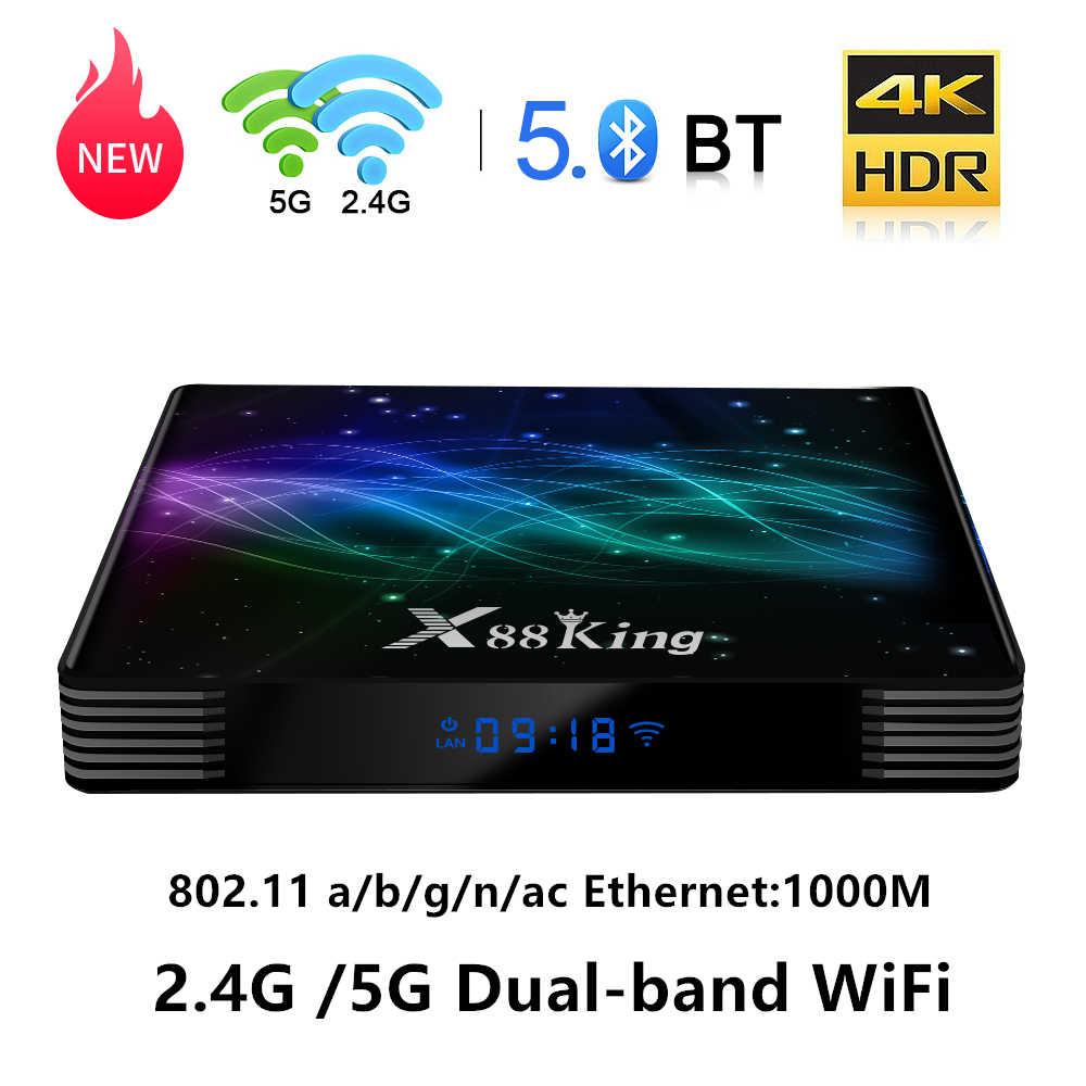X88 Vua 4GB 128G Amlogic S922X Android 9.0 TV Box 5G Wifi Kép BT5.0 1000M USB3.0 youtube Netflix 4K Smart Mini PC TV Box