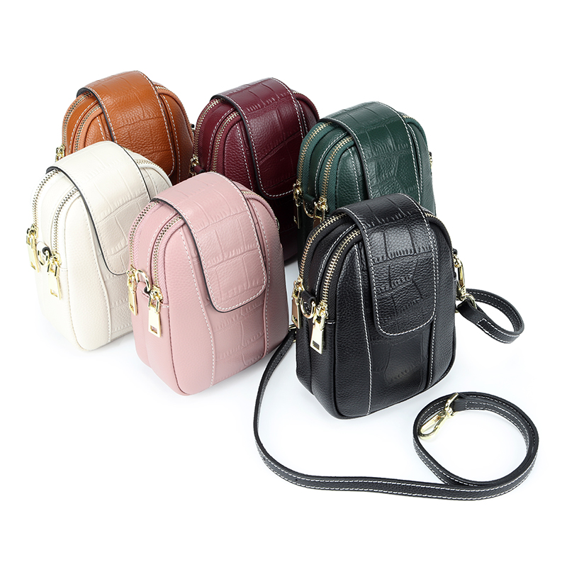 Crocodile Pattern Style Women Messenger Bag Dropshipping сумки женские New Arrivals Cowhide Leather Ladies Mobile Phone Bags