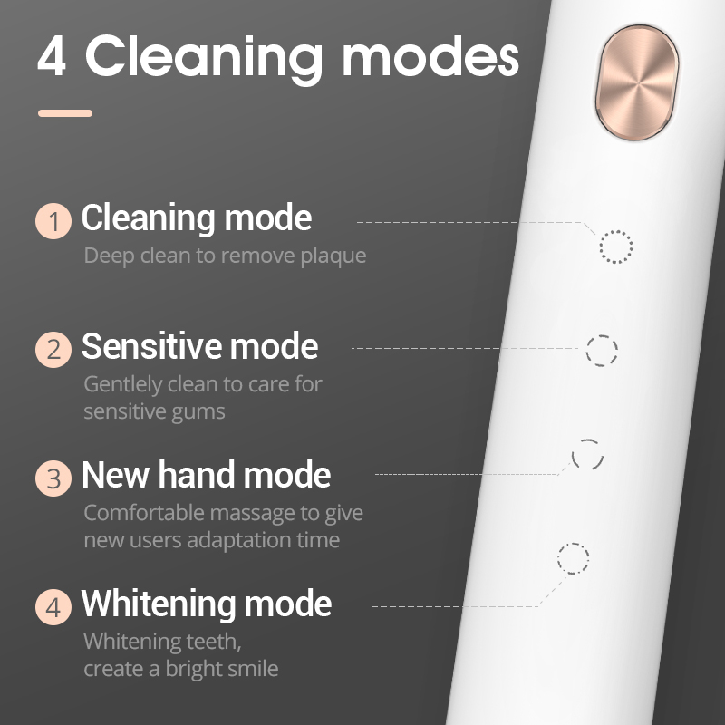 SOOCAS X3U Sonic Electric Toothbrush USB wireless Charging tooth brush Adult Ultrasonic toothbrush APP 4 cleaning modes