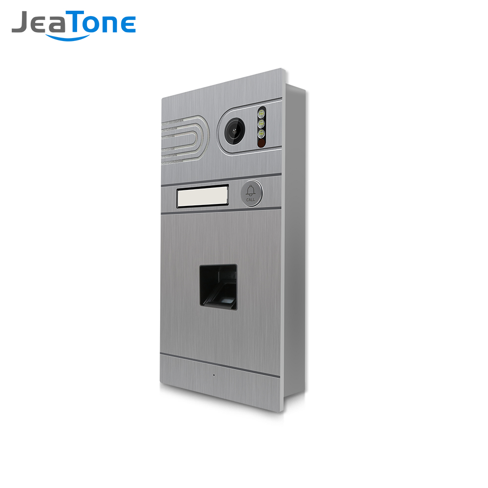 Jeatone AHD 960P Video Doorbell  for Wired Video Intercom Infrared Night Vision WaterProof Support Fingerprint Unlock