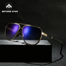 BEYONDSTAR Classic Aviation Sunglasses Man Mirror Blue Lens