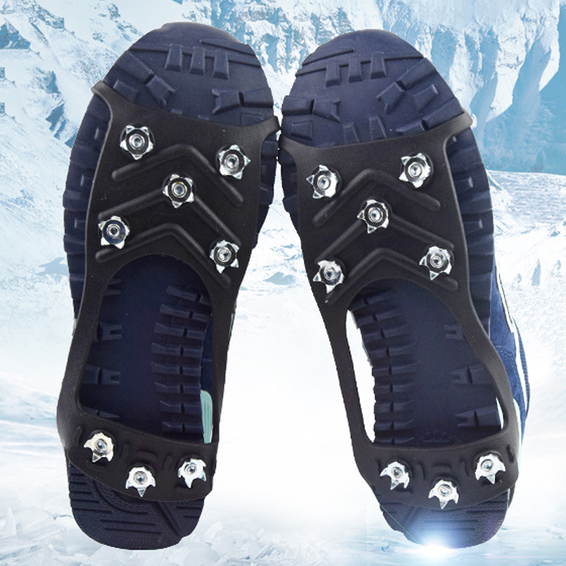 1Pair 8 Studs Anti-Skid Snow Ice Crampon Climbing Cleats Overshoes Crampons Shoe Spikes Grips Crampons  Spike Shoes Crampon