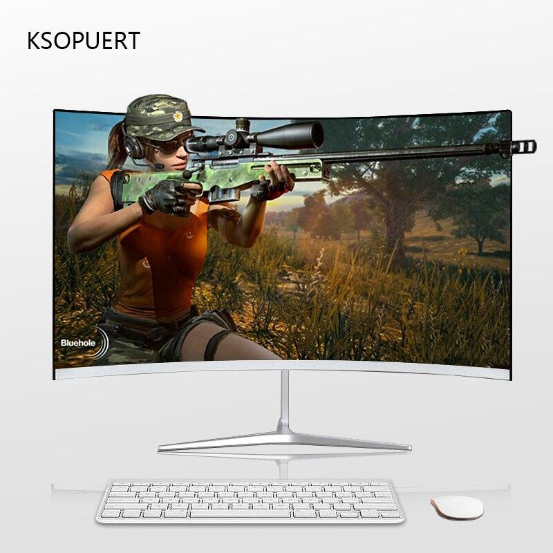 KSOPUERT 24 inch1920x1080 FHD Hdmi HDR kavisli TFT LCD monitör oyunları yarışması Led bilgisayar ekranı HDMI / VGA 75HZ