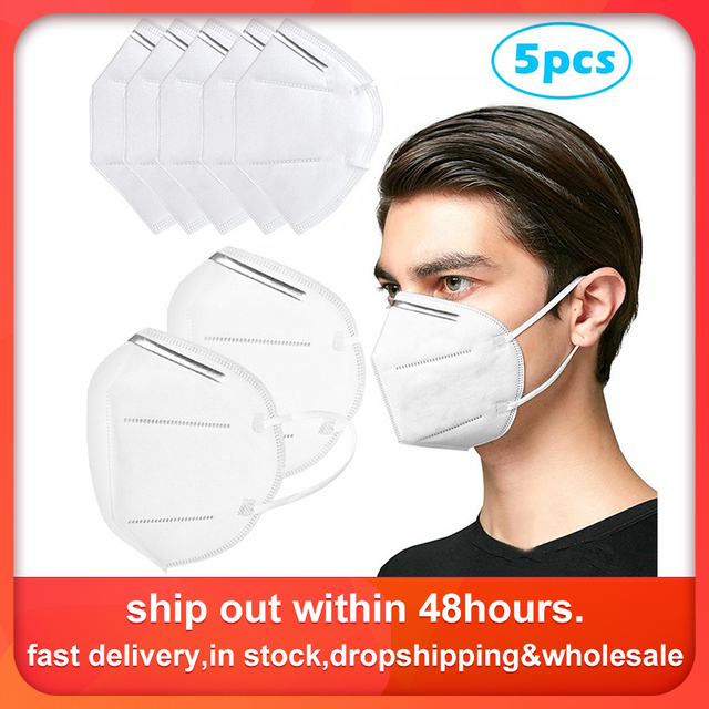 5 PCS Masks Air Purifying Dust Masks Vented Respirator Face Mouth Masks Dropshipping Wholesale