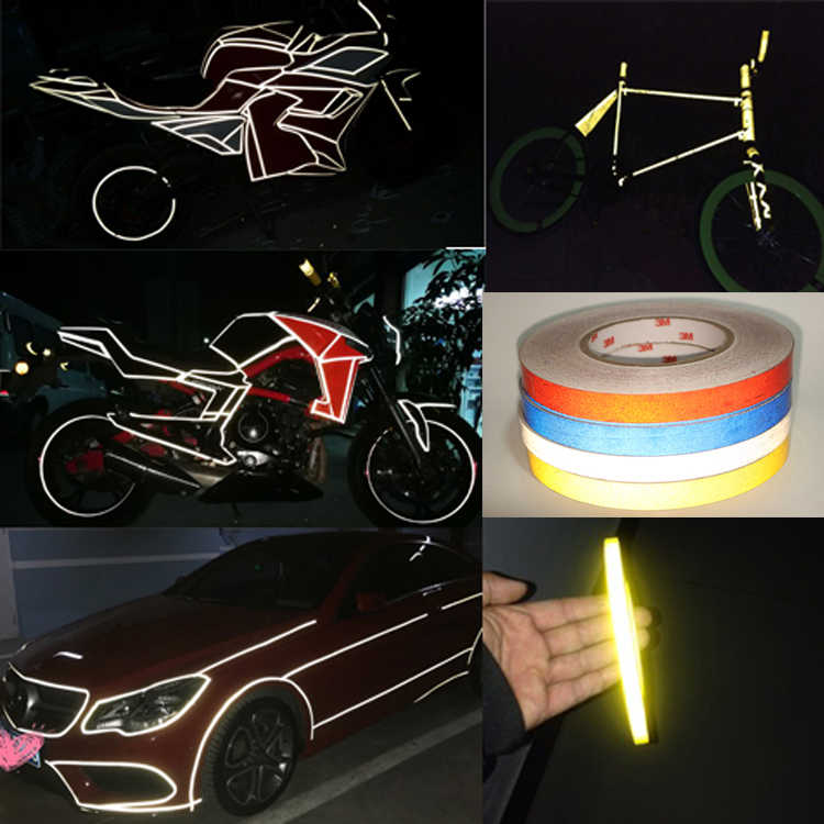 Reflective Stickers Luminous strip for Car Motorcycle Bike Night Warning HQ