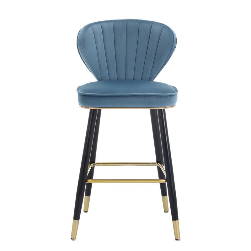Nordic Bar Chair Modern Minimalist Home High Back Island Chair Light Luxury Fashion American Casual Bar Chair
