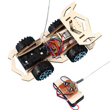 DIY Assembly Wireless Remote Control Racing Car Model Kit Physical Science Experiments Technology Educational Toys For Children cheap OLOEY Wood as show 1 48 Vehicle Cars 5-7 Years Racing Car Model Assembly Model Kit Unisex Christmas Toys for Childr kid toys 5 year old