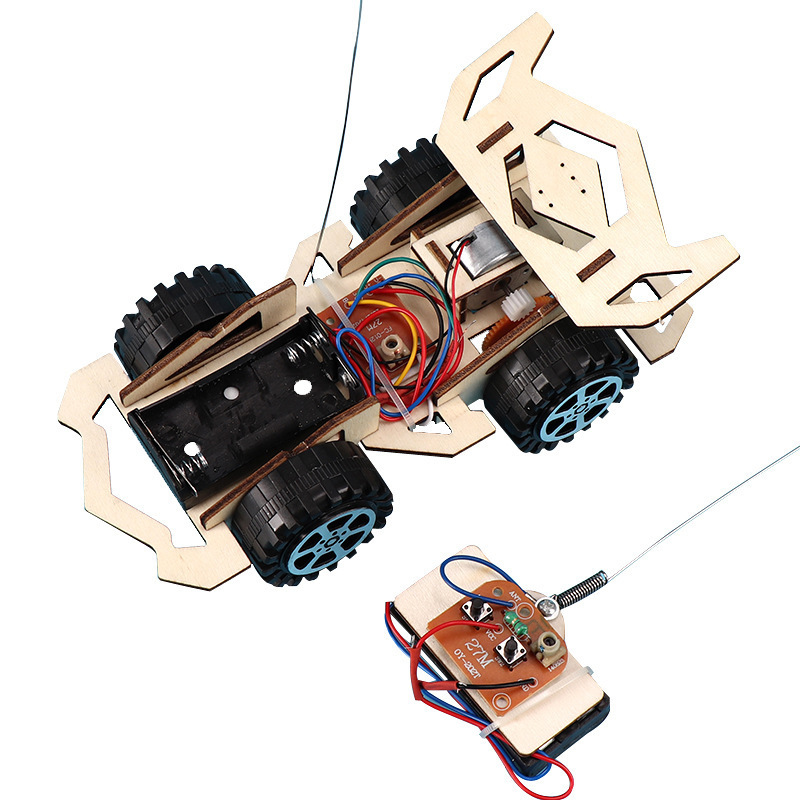 DIY Assembly Wireless Remote Control Racing Car Model Kit Physical Science Experiments Technology Educational Toys For Children