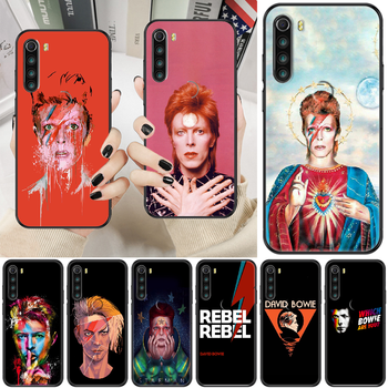 Rock David Bowie Phone case For Xiaomi Redmi Note 7 7A 8 8T 9 9A 9S K30 Pro Ultra black trend hoesjes tpu funda soft cell cover image
