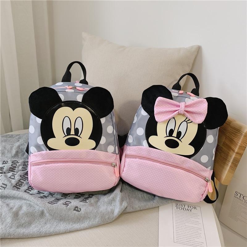 2019 Hot Sale Mickey School Bag Minnie For Boys Girls Baby Bag Children Backpack Kindergarten Backpack Kid School Bags Satchel