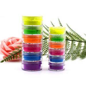 6 цветов смешанные неоновая Пудра Тени для век, палитра, Нейл-арт матовый блеск Тени для век макияж Красота с двойным остеклением, корейская косметика, TSLM1