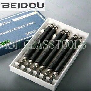 Бесплатная доставка 6 шт./Лот! Фрезер для резки стекла с медной ручкой BEIDOU-NIKKEN DIC. Толщина резки 6-12/15-19/19-25 мм.