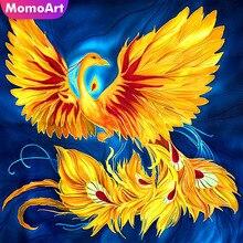 MomoArt Diamond Painting Golden Phoenix Diamond Mosaic Full Drill Square Rhinestone Diamond Embroidery Animal Home Decor