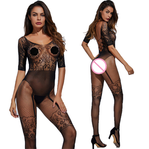 Plus Size Women Porn Lingerie Fishnet Tights Full Body Stocking Sexy Teddy Babydoll Erotic Transparent Hollow Backless Underwear