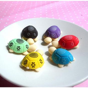 erasers Korean stationery cute colorful animals small tortoise modeling eraser school 2pcs random image