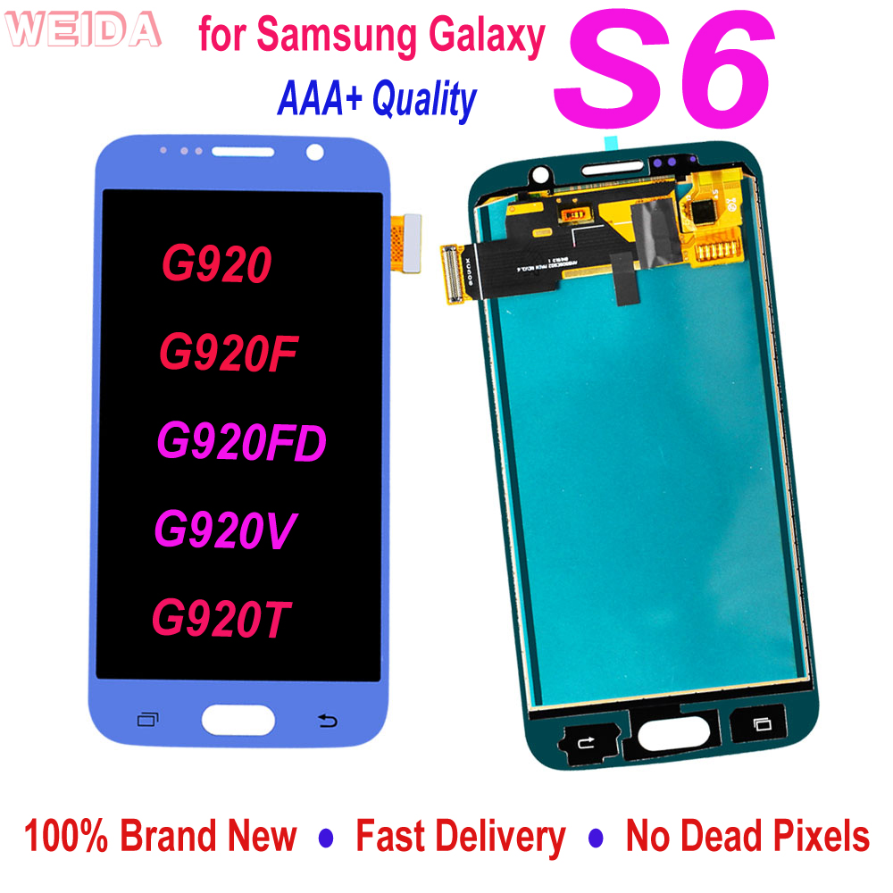 AAA Quality For <font><b>Samsung</b></font> Galaxy <font><b>S6</b></font> <font><b>SM</b></font>-G920 <font><b>SM</b></font>-<font><b>G920F</b></font> <font><b>G920F</b></font> G920FD LCD Display Touch Screen Digitizer Assembly Replacement Parts image