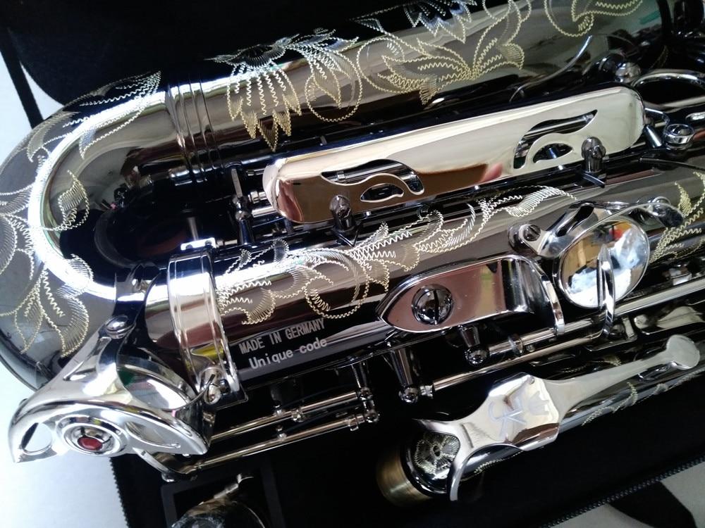 Альт-саксофон Keilwerth, копия немецкого JK SX90R, настоящая картина, черный профессиональный музыкальный инструмент NickeI с мундштуком Sax 6