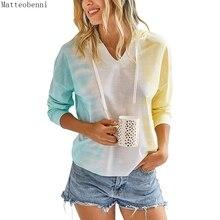 New women Tie Dye Thin Hoodie sweatshirts