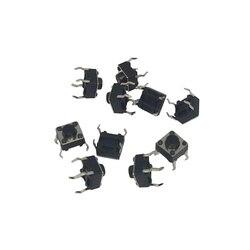 عالية الجودة B76 100 قطعة اللمس مفتاح بـزر دفع حظية تاكت 6x6x5 مللي متر DIP من خلال حفرة 4pin IC