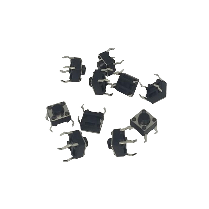 High Quality B76 100pcs Tactile Push Button Switch Momentary Tact 6x6x5mm DIP Through-Hole 4pin IC