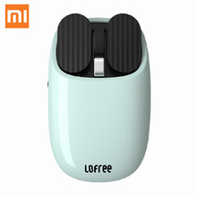 лучшая цена Xiaomi Youpin LOFREE Bluetooth Wireless Mouse 2.4G Bluetooth Dual Mode Connection Gesture Game Office Computer Mouse for Windows