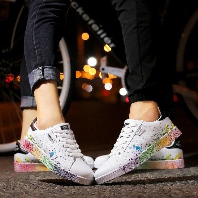 Fashion PU Graffiti Sneakers 5