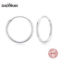 DALARAN Hoop Ohrringe 925 Sterling Silber Kreis Runde Huggie Hoop Ohrringe Für Frauen Männer Mode Einfache Schmuck
