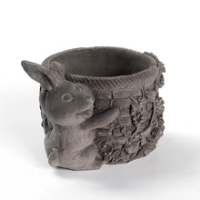 Cute Rabbit Cement Mold Succelent Planter Concrete Pot Mould